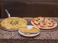 Promo 2 - Pizza muzzarella + pizza napolitana + 2 fainá