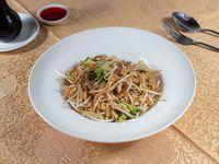 Fetuccini de arroz con vegetales