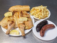 Promo 9 - Pollo + chorizo + morcilla + papas fritas