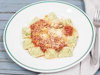 Ravioles masa verde de pollo y jamón - 16 unidades (gluten free)