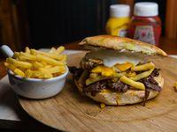 Sándwich premium churrasco a lo pobre