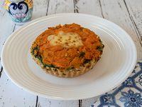 Tarta de  calabaza, verdura y queso