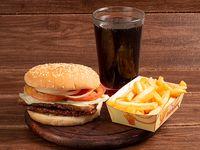 Hamburguesa Súper Doble Carne    en Combo