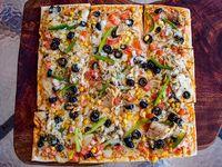 Pizza jardinera mediana