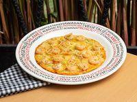 Pizza Pequeña del Mar Camarones al Ajillo