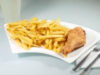 Promo - Presa de pollo (ala o pierna) con papas fritas + Limonada 400 ml