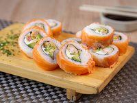 Mandarin supreme sake roll (10 piezas)