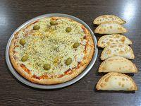 Promo mix - 6 empanadas + 1 pizza grande de muzzarella