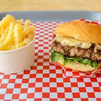 Blue burger