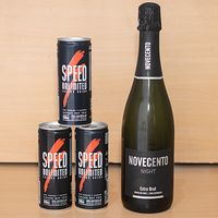 Promoción - Champagne Novecento + 3 energizantes Speeds 250 ml