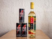 Promoción - Vino New Age 750 ml + 3 energizantes Speed 250 ml