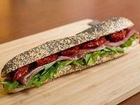 Sándwich Avignon en baguette con semillas