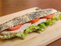 Sándwich Cannes en baguette