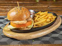 Garlic chicken burger
