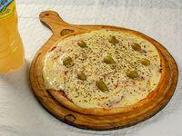 Promo - Pizza grande + agua saborizada Placer 1.5 L