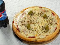 Promo - Pizza muzzarella chica + bebida 200 ml