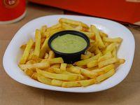 Papas fritas con salsa de palta