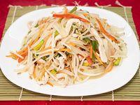 Chop-Suey salteado con pollo