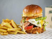 Combo - Hamburguesa Gaucho + acompañamiento + bebida