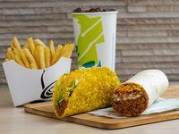 3. Burrito combinado + crunchy y  taco