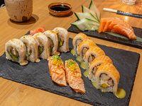 Combinado + sashimi (16 piezas)