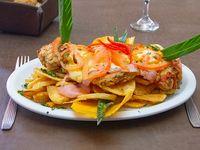 Escalope napolitano con papas españolas