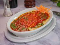 Lasagna con salsa blanca y fileto