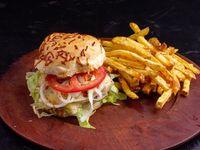 Classic Burger C/ Papas Fritas