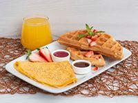 Huevos + Waffles de Avena