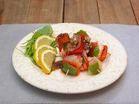 Promo caliente 4 - 3 brochettes de langostino + 6 rebositos chicken