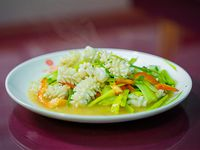 Calamar al wok