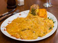 Ravioles de pollo, ricota y verduras