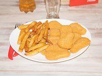 Menú  - Patitas de pollo (10 unidades) + papas fritas