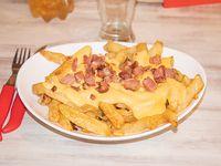 Papas fritas + cheddar + bacon