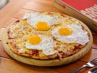 Pizza mozzarella con huevo (32 cm)