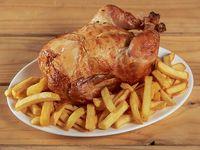 Promo 3 - Pollo entero + papas fritas familiares