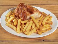 Promo 1 - 1/4 pollo + papas fritas individuales