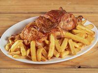 Promo 2 - 1/2 pollo + papas fritas medianas