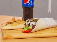 Promo Ararat vegetariano - Shawarma vegetariano + fatay de verduras + gaseosa de linea Pepsi 500 ml o cerveza Quilmes de 473 ml