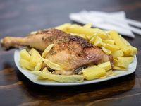 Colación - Pollo con papas fritas