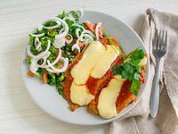 Milanesa de berenjena napolitana con ensalada mixta