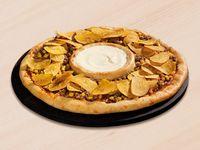 Pizza Vulcano con Queso Crema y Platanitos