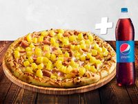 Pizza Grande Original de la Casa + Bebida