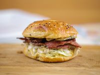 Hot pastrami bagel