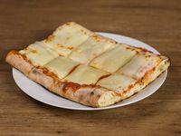 Pizza con muzzarella - porción