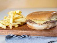 Combo 1 - hamburguesa con queso + gaseosa y papas