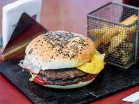 Sándwich de hamburguesa doble