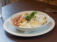 Pasta dos salsas (1/2 porción)