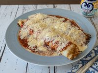 Canelones de verdura y queso con salsa fileto o mixta