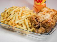 Promo - Pollo entero + papas fritas 1kg + bebida 1.5 L
